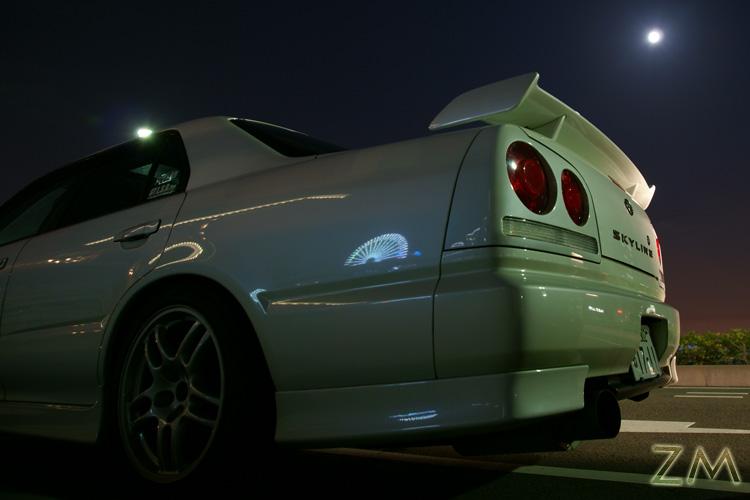 満月と観覧車♪